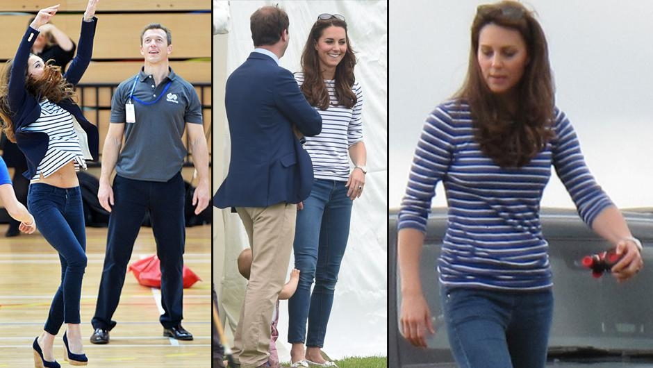 KATE MIDDLETON'IN ÇİZGİLİ TİŞÖRTÜ 1