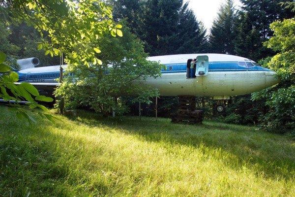 Boeing 727'den ev yaptı 2