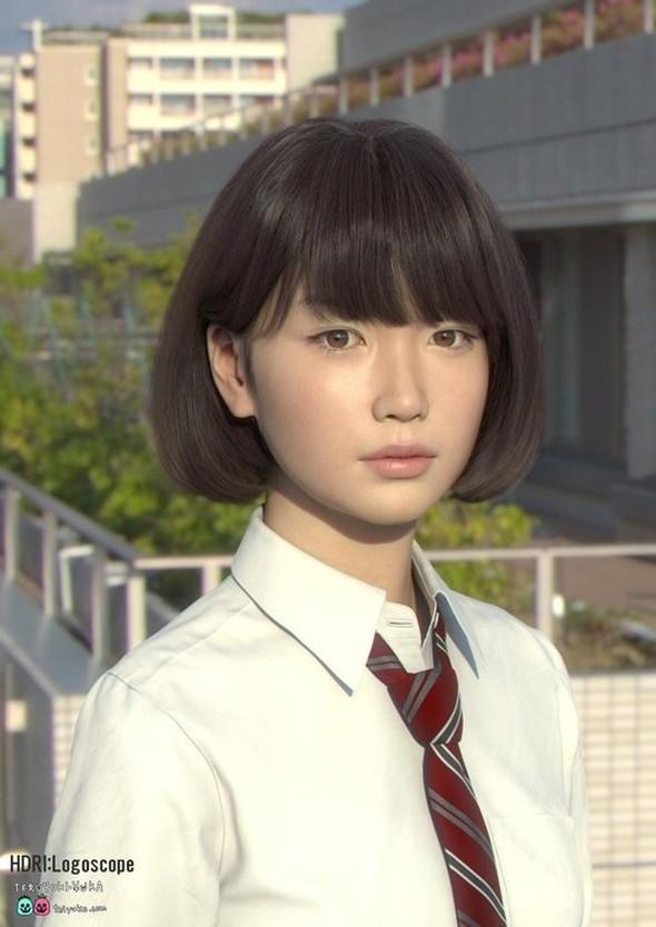 'HİPER REALİSTİK' JAPON KIZI İNTERNETİ SALLADI 14