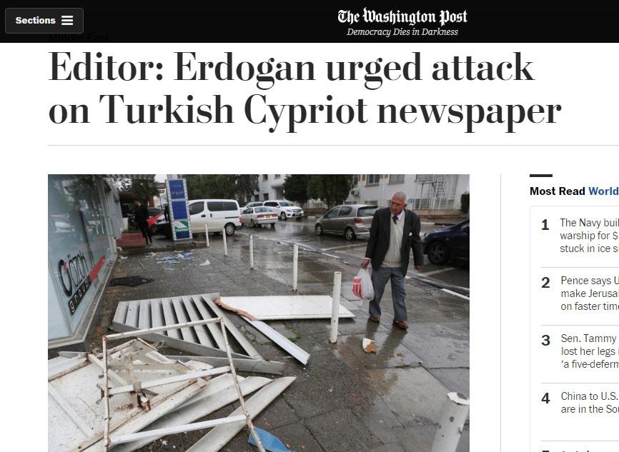 Afrika Gazetesi'ne saldırı dünya basınında 1