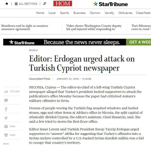 Afrika Gazetesi'ne saldırı dünya basınında 5