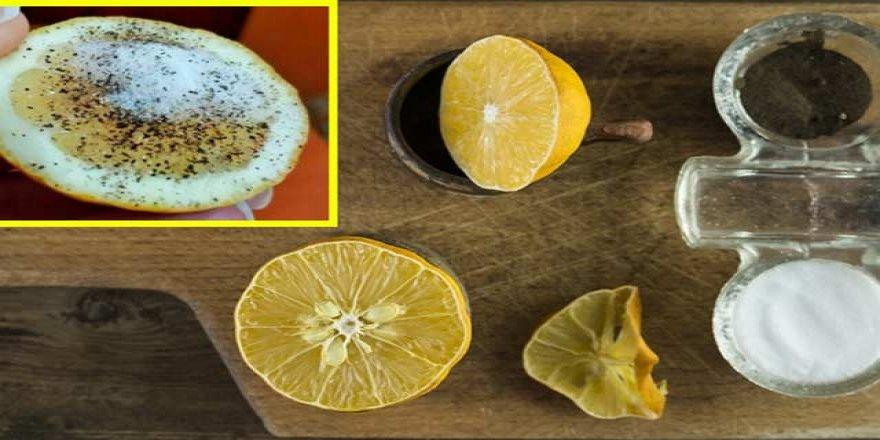 Limonun üzerine tuz ve karabiber döküp yerseniz...