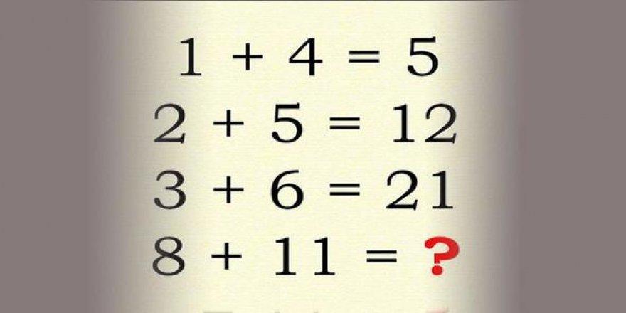İnternette yoğun olarak paylaşılan tuzak zeka soruları