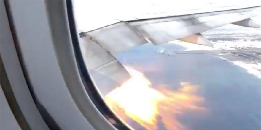 360 kişinin bulunduğu uçakta büyük panik!