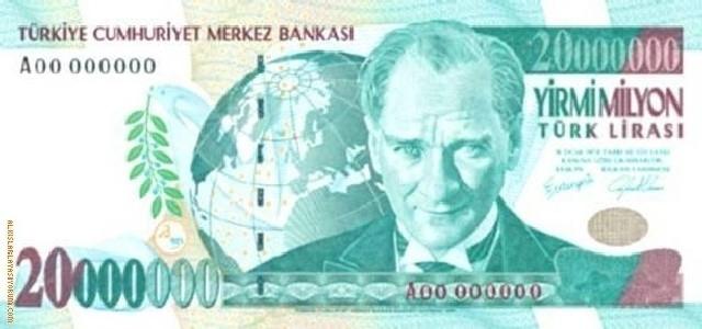 TEDAVÜLDEN KALKMIŞ TÜRK LİRALARI 30
