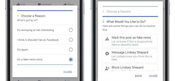 Facebook sahte ve yalan haberleri işaretleyecek