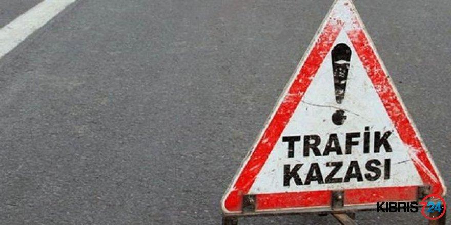 GAİZMAĞUSA-İSKELE ANAYOLUNDA TRAFİK KAZASI