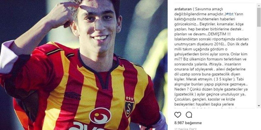 Arda Turan'dan saldırı açıklaması