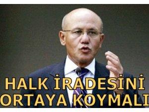 """TALAT """"HALK İRADESİNİ ORTAYA KOYMALI"""""""