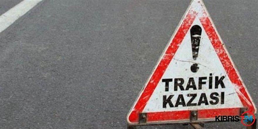 GİRNE-LEFKOŞA YOLUNDA KAZA!