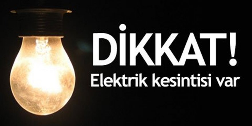 Lefkoşa'da yarın elektrik kesintisi