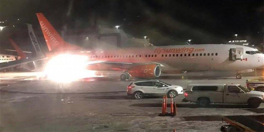 Havalimanında uçaklar çarpıştı