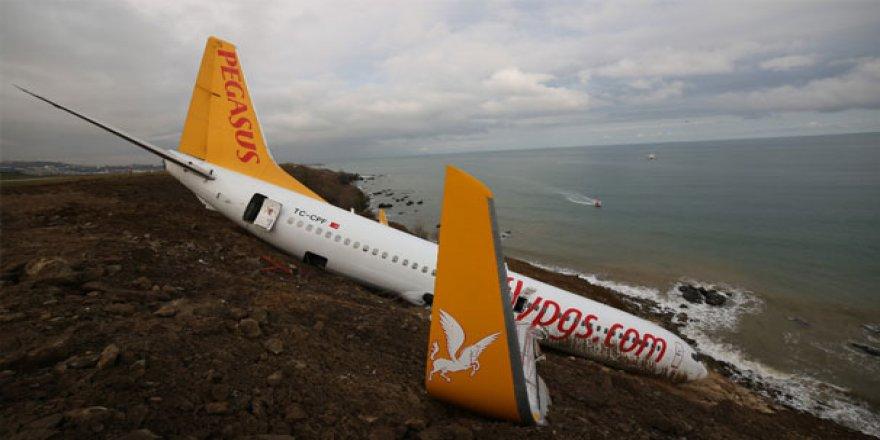 Trabzon'da pistten çıkan uçakla ilgili şok iddia!