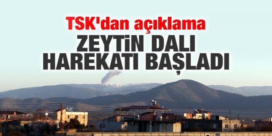 AFRİN'E 'ZEYTİN DALI HAREKATI' BAŞLADI