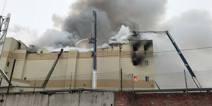 Rusya'da AVM'de yangın: 5 ölü, 30 yaralı