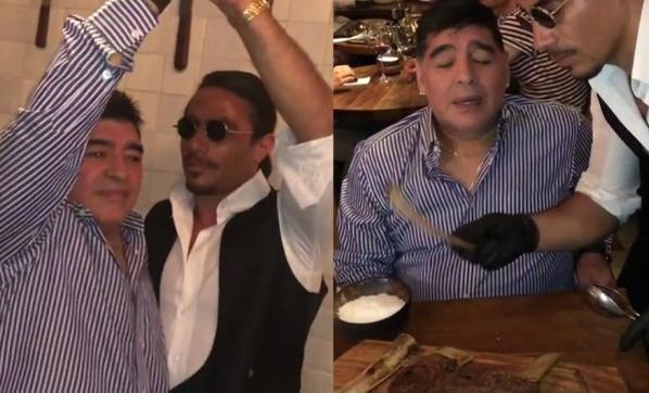 Maradona'dan Nusret için bomba sözler