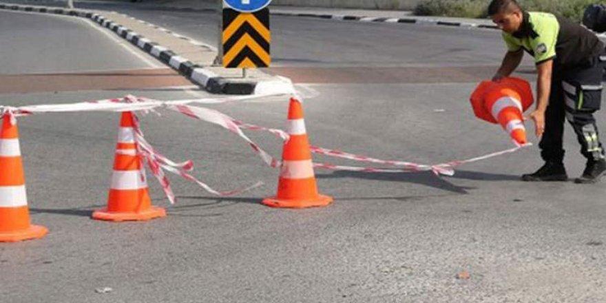 """""""Yarim Çemberi"""" asfaltlama çalışması nedeniyle trafiğe kapatıldı"""