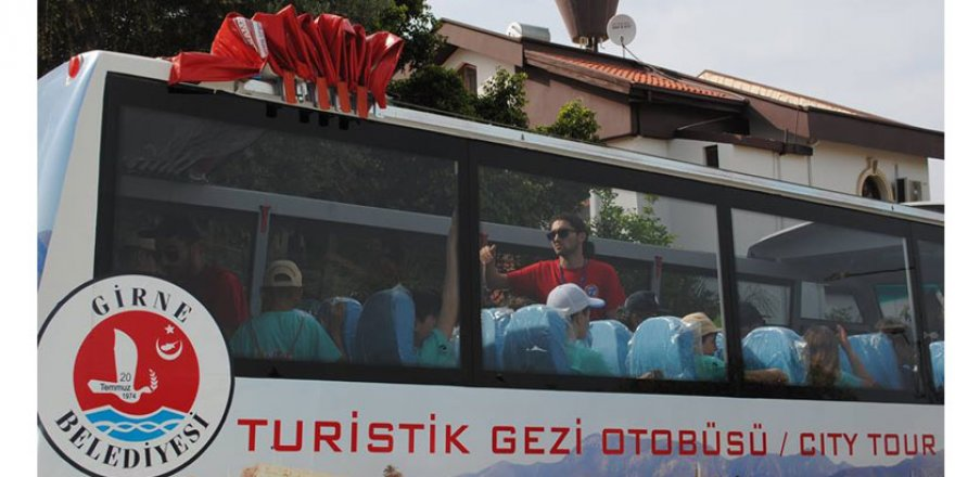 GİRNE'YE TURİSTİK OTOBÜS GELİYOR