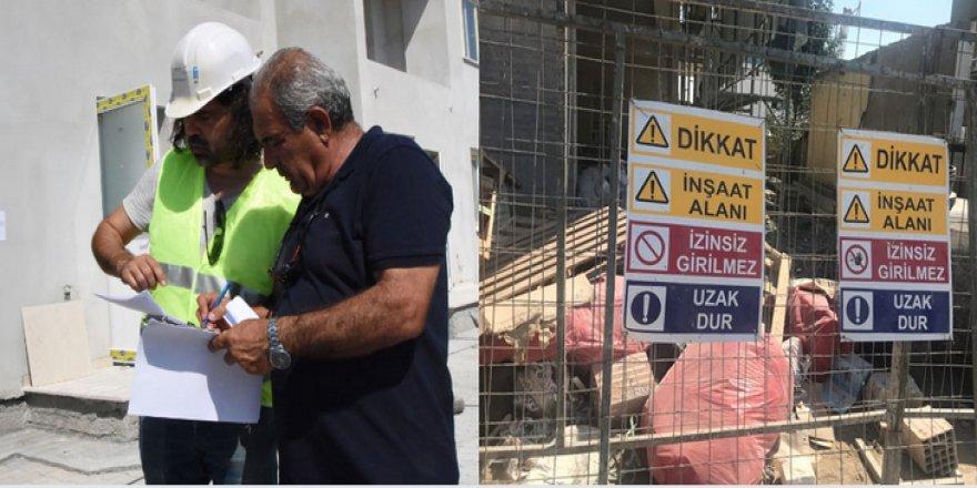 LEFKOŞA'DA 5 İNŞAATIN FAALİYETLERİ DURDURULDU!