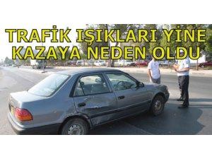 TRAFİK IŞIKLARI YİNE KAZAYA NEDEN OLDU!