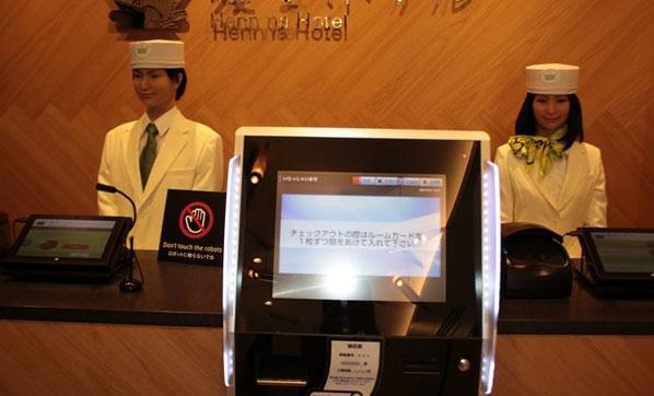 Bu otelde robotlar çalışıyor!