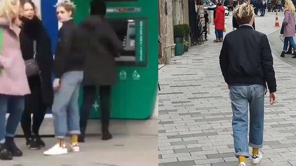 Taksim'de ATM sırasında bir dünya yıldızı