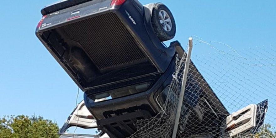 Metehan yolunda korkutan kaza