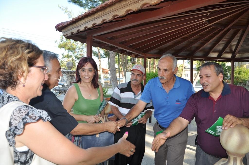 CTP-BG GAZİMAĞUSA MİLLETVEKİLİ ADAYLARI MESARYA'DAKİ 4 KÖYDE HALKLA BULUŞTU