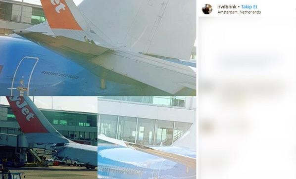 İki uçak çarpıştı!