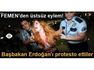 FEMEN BAŞBAKAN ERDOĞAN'I PROTESTO ETTİ!