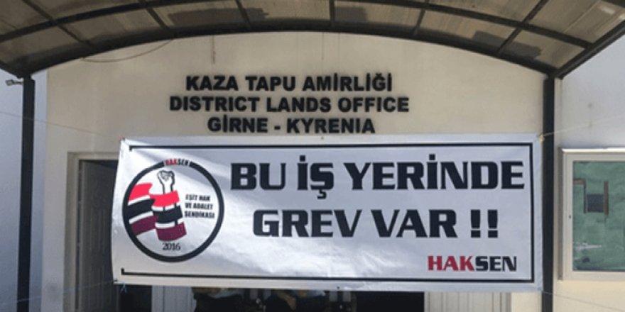 GİRNE TAPU DAİRESİ'NDE GREV!