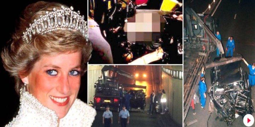 Prenses Diana'nın, kazadan sonra kanlar içinde cansız yatarkenki görüntüleri internete sızdı