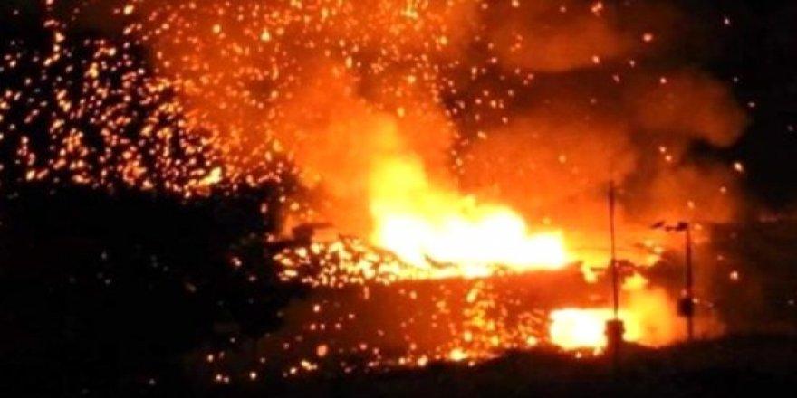 Askeri bölgedeki cephanelikte art arda patlamalar meydana geldi
