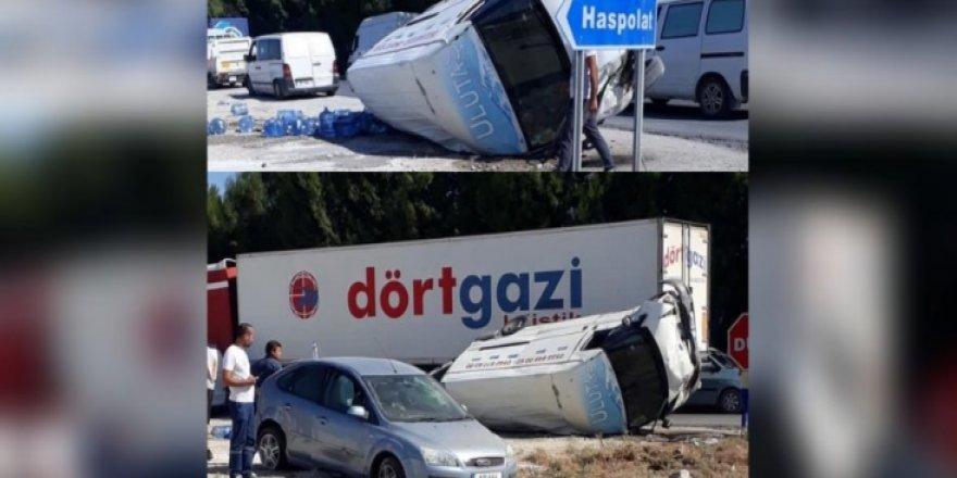 HASPOLAT'TA YÜREKLERİ AĞZA GETİREN KAZA!