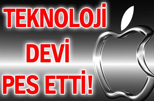 TEKNOLOJİ DEVİ PES ETTİ!
