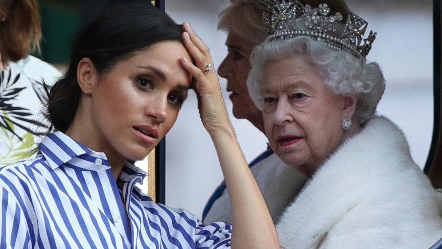 Kraliçe Meghan'ı sildi!