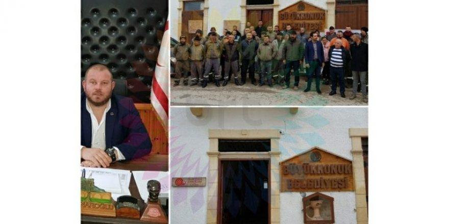 Büyükkonuk Belediyesi çalışanları 3 saatlik uyarı grevi yaptı