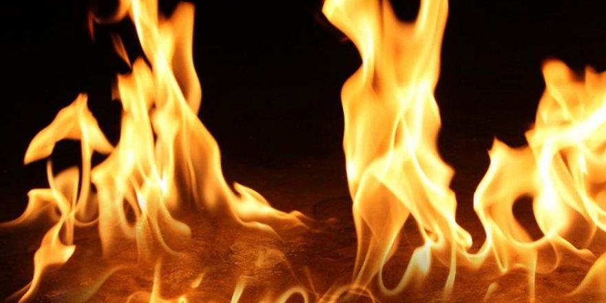 Girne'de bir işletmede yangın çıktı!