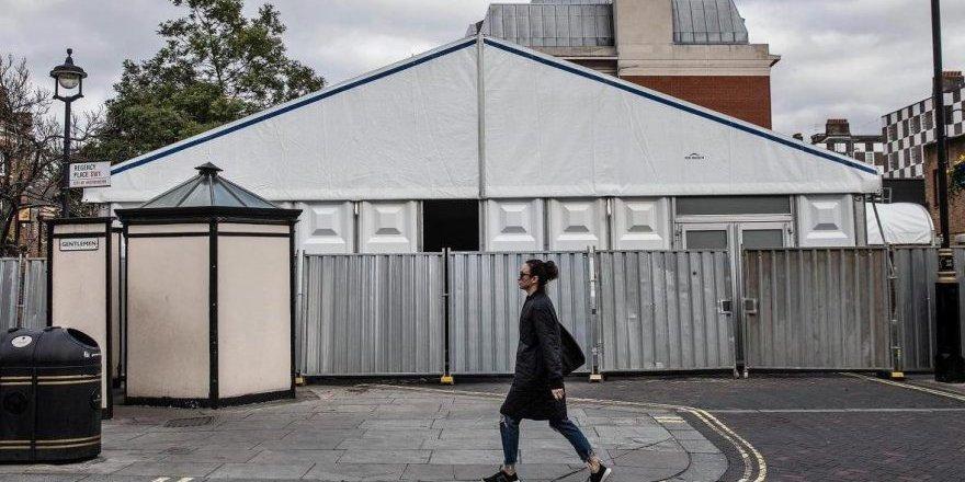 İngiltere'de corona virüsü sayısı artıyor: Prefabrik morg yaptılar