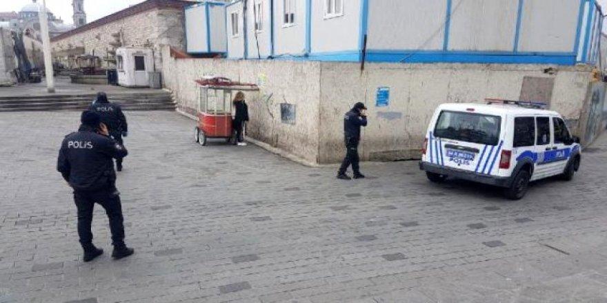 İstanbul'da karantinadan kaçan kadın, polis ekiplerini alarma geçirdi