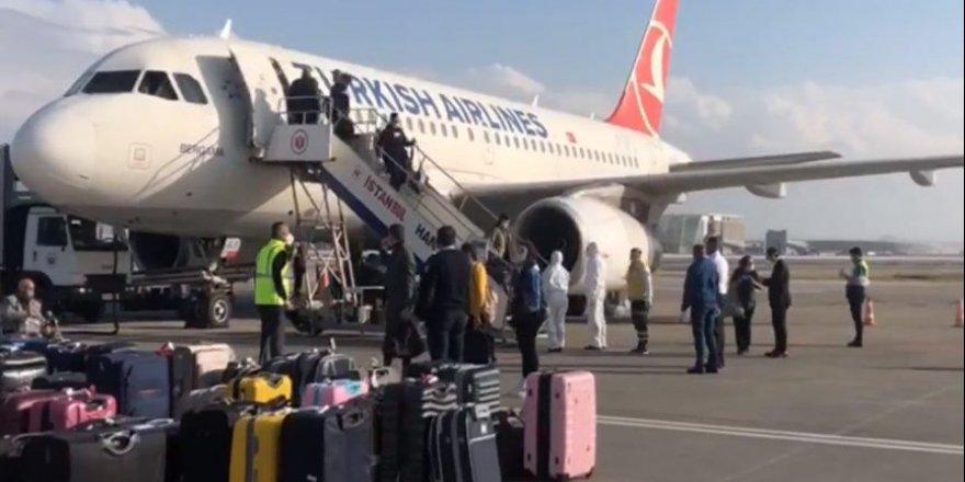 İstanbul'dan gelen uçak Ercan'a indi