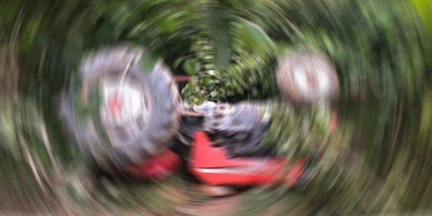 Ergazi'de traktör kazası