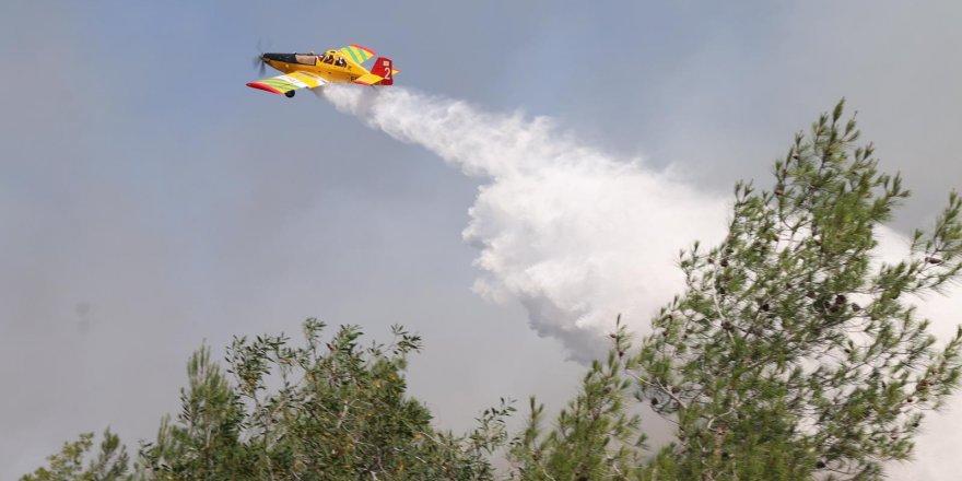 Güneyden bir yangın söndürme uçağı bölgede söndürme çalışmalarına başladı.