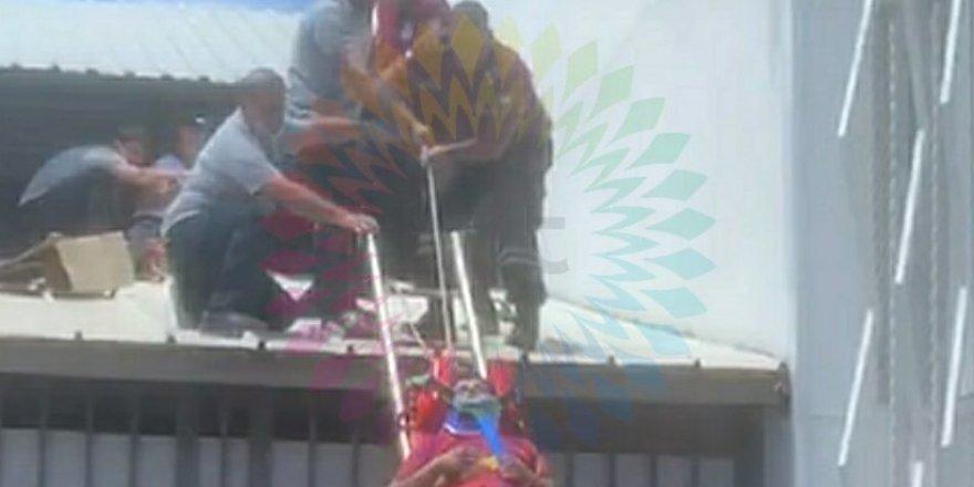 5 metre yükseklikten düştü!