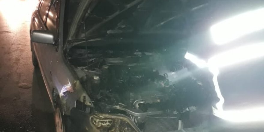 Alev alan araç korkuttu