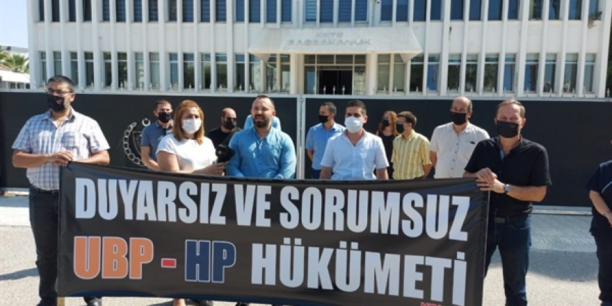 KTAMS, Başbakanlık önünde eylem ve basın açıklaması yaptı.