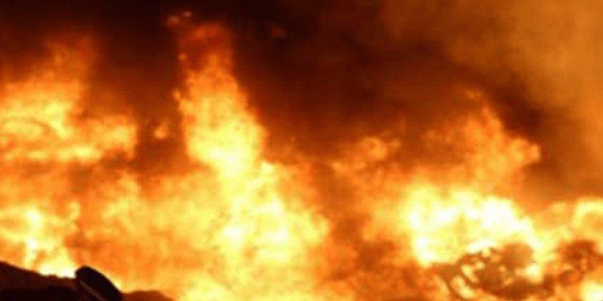 Alevkayası yolunda korkutan yangın!