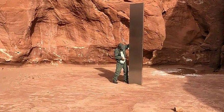 Uzaylılar mı götürdü? Gizemli monolit bir gecede yok oldu