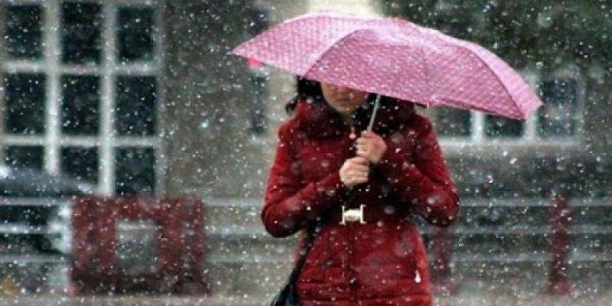 Meteoroloji bugün  karla karışık yağmur uyarısı yaptı