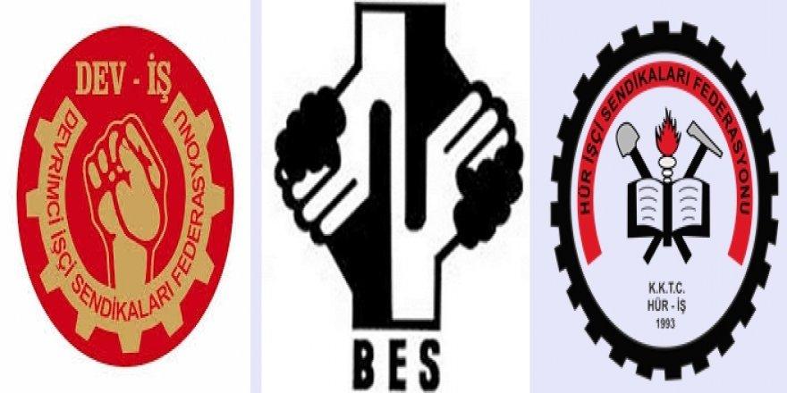 DEV-İŞ,BES ve HÜR-İŞ 21 Ocak'ta iş bırakma eylemi yapacak